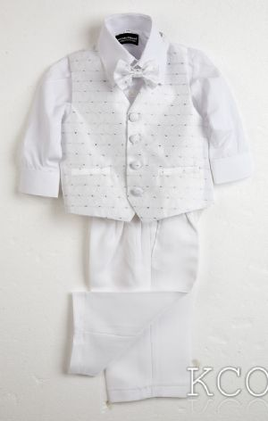 Milan Classic White Shirt/White Trousers~ Boys Suits